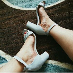 Dusty blue Heels